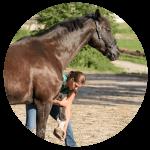 Pferdeosteopatische Behandlung Bein